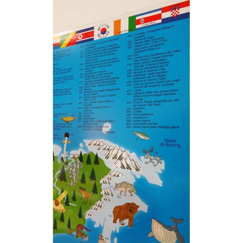Illustrated world cart map in english language brick quality toys illustrated world cart map in english language gumiabroncs Image collections