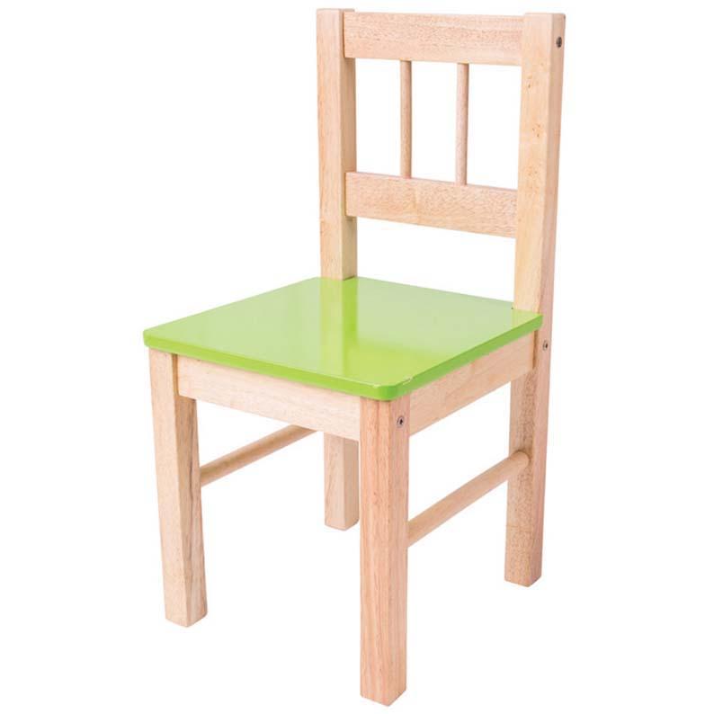Sedie In Legno Da Colorare.Sedia In Legno Per Bambini Colore Verde Brickone Giocattoli Di
