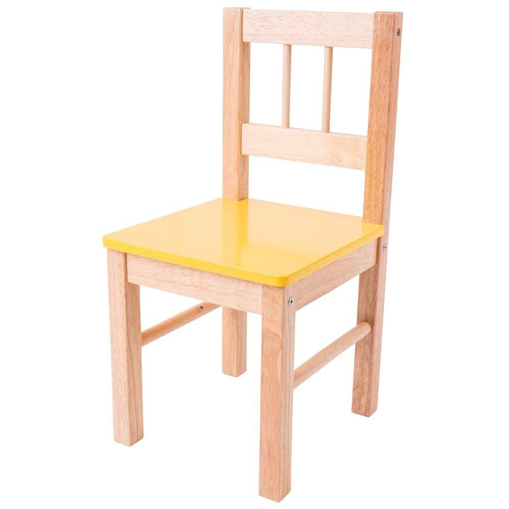 Dipingere Sedie Di Legno sedia in legno per bambini colore giallo