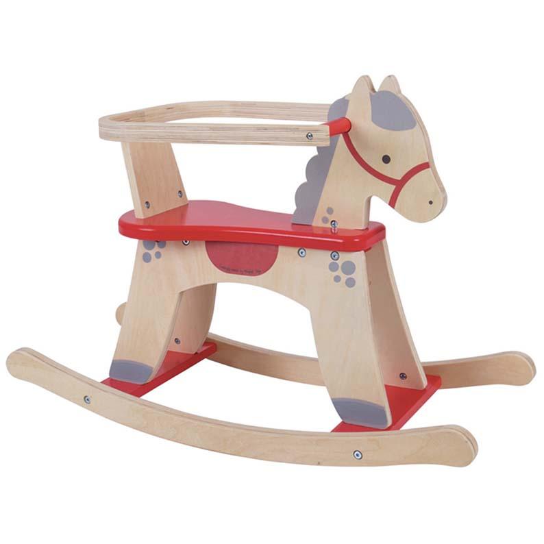 Cavallo A Dondolo In Legno.Cavallo A Dondolo In Legno Bigjigs Brickone Giocattoli Di Qualita